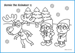 Bernie the Reindeer Worksheet
