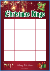 Christmas Bingo Activity