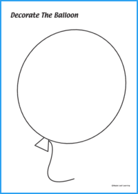 Decorate the Balloon Activity