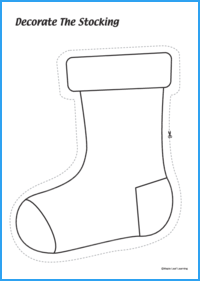 Decorate the Stocking Activity