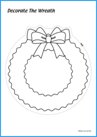 Decorate the Wreath Activity