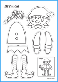 Elf Cut-Out Activity