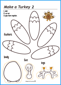 Make a Turkey Activity (Easy)