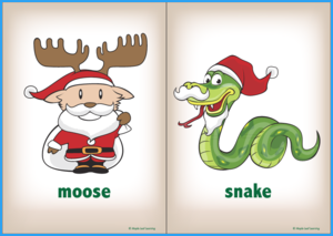 Christmas Pet Song Flashcards