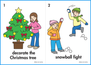Christmas Verbs Flashcards
