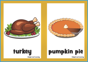 Happy Thanksgiving Song Flashcards
