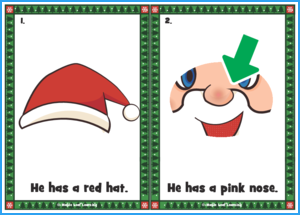 His Name Is Santa Claus Song Flashcards