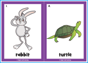 Hop Little Rabbit Song Flashcards