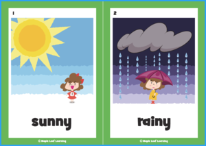 How's the Weather? Song Flashcards