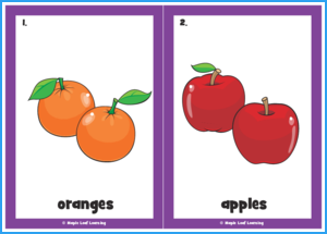 I Love Fruit Song Flashcards