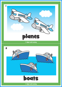 Let's Be Planes! Song Flashcards