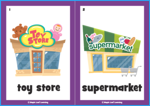 Let's Go Shopping Song Flashcards
