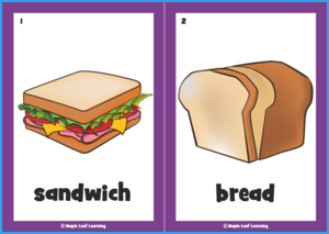 Let's Make a Sandwich Song Flashcards