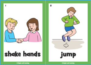 Let's Shake Hands Song Flashcards