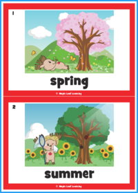 Seasons Song Flashcards