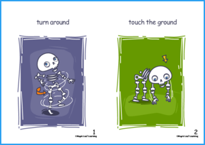 Skeleton, Skeleton Song Flashcards