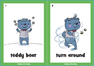 Teddy Bear Song Flashcards