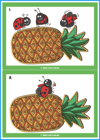 Three Ladybugs Song Flashcards