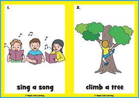 What Can You Do? Song Flashcards