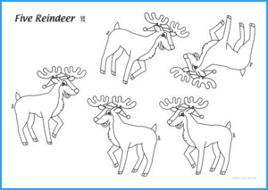 Five Reindeer Activity