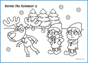 Bernie the Reindeer Worksheet