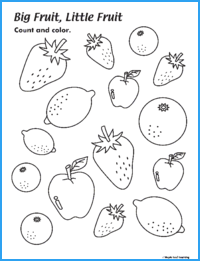 Big Fruit, Little Fruit Worksheet
