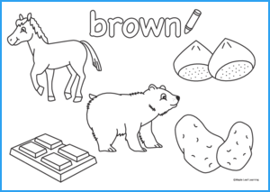 Brown Coloring Worksheet