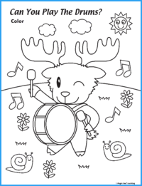 Can You Play the Drums? Worksheet
