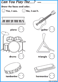 Can You Play the…? Worksheet