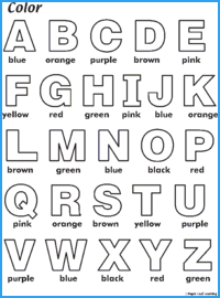 Color ABC Worksheet