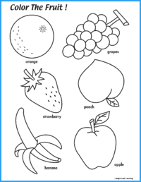 Color the Fruit Worksheet