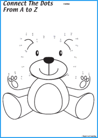 Connect-the-Dots Teddy Bear Worksheet