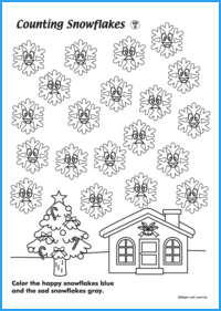 Counting Snowflakes Worksheet