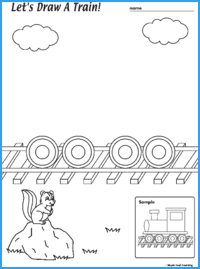 Draw a Train Worksheet