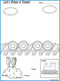 Draw a Train Worksheet