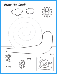 Draw the Snail Worksheet