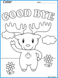 Good Bye Marty Worksheet