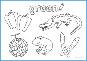 Green Coloring Worksheet