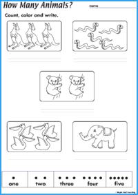 How Many Animals? Worksheet