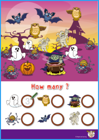 How Many? Halloween Worksheet