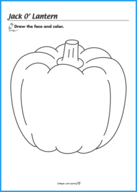Jack o' Lantern Face Worksheet