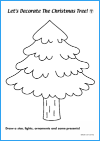Let's Decorate the Christmas Tree Worksheet