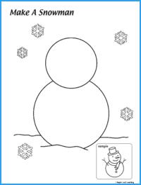 Make a Snowman Worksheet