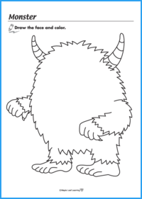 Monster Face Worksheet