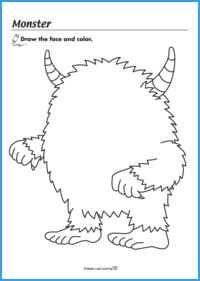 Monster Face Worksheet