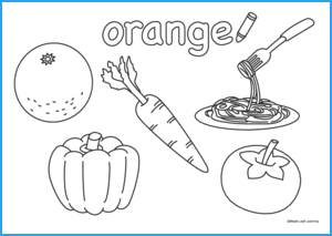 Orange Coloring Worksheet