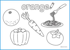 Orange Coloring Worksheet | Maple Leaf Learning Library