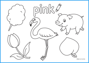 Pink Coloring Worksheet