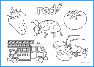 Red Coloring Worksheet