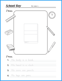 School Boy Worksheet